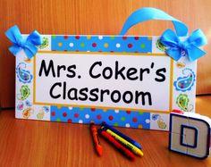 paisleys and polka dots themed teachers classroom by kasefazem, $15.99