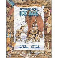 Adventures in the Ice Age, written by Linda Bailey and illustrated by Bill Slavin. THis is a series! GREAT BOOKS graphic and informative and funny. Like Asterix & Obelix but a bit tammer Ice Age Birthday Party, Early Humans, Kids Reading, History Books, Travel Agency, Nonfiction Books, Great Books, Reading Online, Books Online