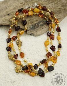 Summer sizzles at EarthWhorls - where amber, sterling silver and fresh water pearls take center stage.  https://earthwhorls.com/collections/necklaces/products/1431sn