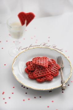 My Orange Flavored Heart Waffles For Valentines Day Recipe