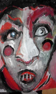 """""""Circ Freak"""" Original Acrylic Painting, By Artist Ruth Clotworthy"""