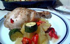 Fusi di pollo con le patate e verdure al forno http://blog.giallozafferano.it/chiodidigarofano/fusi-pollo-le-patate-verdure-al-forno