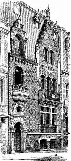 10 | Данная серия гравюр знакомит нас с различными направлениями архитектуры. В публикации представлены особняки, замки, общественные дома и другие здания, построенные в стиле модерн, барокко, ампир, классицизм. Часть1 | ARTeveryday.org