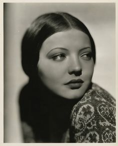 Sylvia Sidney. Looking. Through the lens of Eugene Robert Richee.