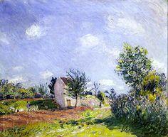 "bofransson: ""Spring Landscape - Path near Moret-sur-Loing Alfred Sisley - 1889 "" Impressionist Landscape, Impressionist Artists, Post Impressionism, Landscape Paintings, Oil Paintings, Landscapes, Pierre Auguste Renoir, Claude Monet, Sisley Alfred"