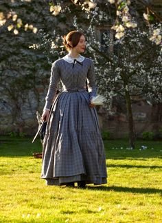 """the-garden-of-delights: """"Mia Wasikowska in the title role of Jane Eyre """" Victorian Gown, Victorian Fashion, Vintage Fashion, Historical Costume, Historical Clothing, Charlotte Bronte, Jane Eyre 2011, Mia Wasikowska, Harajuku Fashion"""