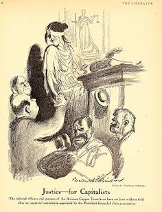 A Man of Family: Liberator Magazine Art, Jan 1919, page 12 artist: Boardman Robinson, political cartoon