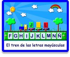 Vamos al Tren - Letras - Juegos - Juegos educativos en español, JuegosArcoiris Online Logo, Ideas Para, Montessori, Spanish, Education, Digital, Blog, Fictional Characters, Teaching Supplies