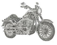 Tangled Harley Davidson Fatboy by Dianne Ferrer