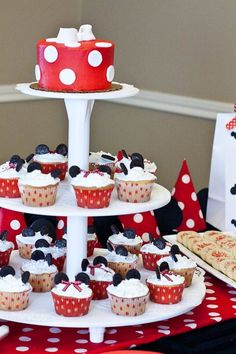 Minnie mouse party goodies!