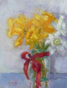"Daily Paintworks - ""Garden Week Daffodils"" by Carol Josefiak"