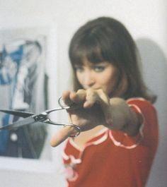 Anna Karina in Godard's Pierrot le Fou (1965).  #LeftieBeauties