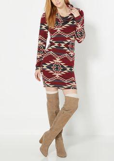 Heather Gray Cowl Neck Sweater Dress | Mini Dresses | rue21 ...