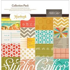 Amazon.com: American Crafts - Studio Calico - Yearbook Collection - 12 x 12 Collection Pack: Arts, Crafts & Sewing