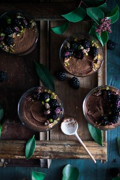 """*This Chocolate Mousse is vegan, dairy & refined sugar free. There are a few recipes I have in my arsenal that I never thought I would ever consider making """"healthier"""", or more nutritious, as I prefer to think of it. I'm not sure that I like thinking of food as healthy or not healthy, probably...Read More »"""