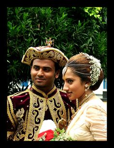 Sri Lanka  Beautiful hats and hairpieces are worn during a formal ceremony.