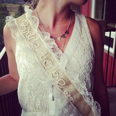 Rustic handmade bachelorette sash or party by MermaidsandPeonies, $42.00