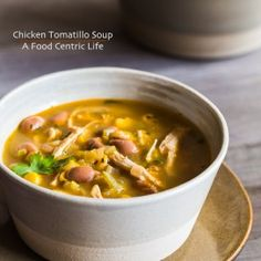 Chicken Tomatillo Soup|AFoodCentricLife.com