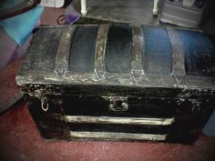 Black Trunk I refinished trying to capture its former beauty