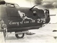 """B-24 """" Envy of 'em All """" Transferred from 492nd BG to the 392nd. MIA 13-Sep-44"""
