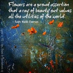 are a proud assertion that a ray of beauty outvalues all the utilities of the world. Bloom Quotes, Joy Quotes, Garden Quotes, Garden Sayings, Quotes About Flowers Blooming, Tangled Quotes, Garden Spells, Ralph Waldo Emerson, Toddler Art