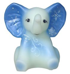 "Fenton Art Glass ""January"" Elephant"