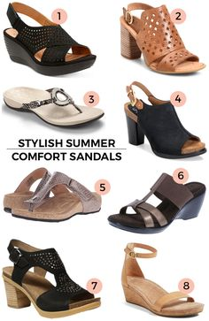 90c58fc6a I've had several requests for stylish comfort sandals so I gathered up some  of