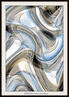 Curves and lines flowing together. Abstract Pictures, Art Pictures, Deco Paint, Diy Art Projects, Love Painting, Pattern Art, New Art, Sculpture Art, Canvas Wall Art
