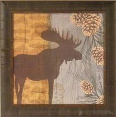 "This attractive moose decor will look awesome in your country home or cabin. You could decorate your ""man cave,"" office or library with moose..."