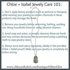 Chloe and Isabel Jewelry care 101 #chloeandisabel #jewelry