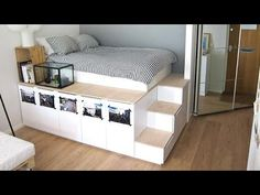 this man came up with a clever way to get bedroom storage with ikea kitchen cabinets and it. Black Bedroom Furniture Sets. Home Design Ideas