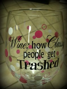available in any color combination Custom Wine Glasses, Personalized Wine Glasses, Silhouette, Canning, Cool Stuff, Tableware, Crafts, Color, Ideas