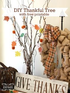 Thanksgiving Crafts for kids | DIY Thankful tree with free printable!