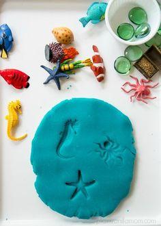 Sea Life Play Dough Imprints - Plain Vanilla Mom