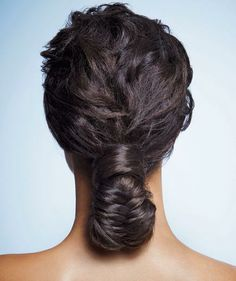 For all the oohs and aahs that you're bound to get when you wear this fishtail bun, the difficulty level is shockingly low.