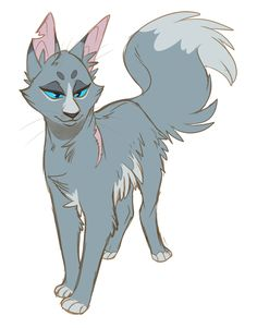 "dracofelis-art: ""100 Warrior Cats Challenge Day 2: BLUESTAR """