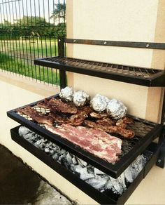 Asador Barbecue Design, Grill Design, Diy Grill, Barbecue Grill, Outdoor Barbeque, Brick Bbq, Bbq Area, Outdoor Kitchen Design, Backyard Projects