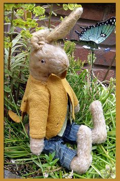 Fabulous Old German Jointed Bunny Rabbit