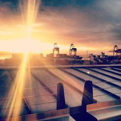 Tonight's sunset from Safeco Field. #Mariners #ILoveSafecoField 4/10/13