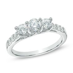 I've tagged a product on Zales: 1 CT. T.W. Diamond Three Stone Engagement Ring in 10K White Gold