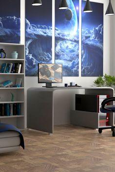 Excellent bedroom desk ideas just on homes tre Cheap Bedroom Sets, Cute Bedroom Ideas, Pretty Bedroom, Stylish Bedroom, Bedroom Inspiration, Modern Bedroom, Bedroom 2017, Bedroom Desk, Bedroom Apartment
