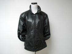 Maxima . Wilsons black jacket . large . bust 43 by june22 on Etsy