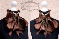 Victorian steampunk collar by Pinkabsinthe.deviantart.com on @deviantART
