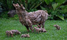 Sculptor transforms driftwood into astounding lifelike animals in motion   Inhabitat - Green Design, Innovation, Architecture, Green Building