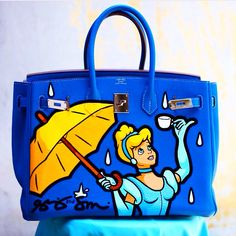 CINDERELLA PAINTING BY @shelbyandsandy on THIS GORGEOUS @hermes BIRKIN!