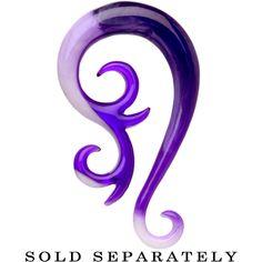 0 Gauge Purple White Paradox Acrylic Swirl Taper | Body Candy Body Jewelry #bodycandy #plugs #gauges