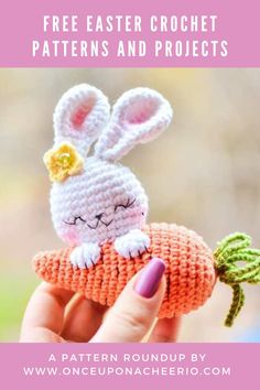 Looking for FREE crochet patterns for Easter? Spring into the season with some crochet Easter eggs, crochet Easter egg cozy, amigurumi bunnies, DIY crochet bunny ears and DIY crochet Easter baskets. Free crochet patterns for beginners that are great for Easter. Bunny Crochet, Easter Crochet Patterns, Cute Crochet, Crochet Crafts, Crochet Dolls, Easy Crochet, Crochet Projects, Crochet Unicorn, Crochet Teddy