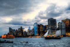 Lower Manhattan Sunset (color)