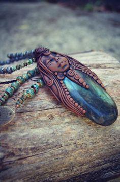 Labradorite Goddess Necklace . OOAK . Handcrafted . by TRaewyn, $250.00