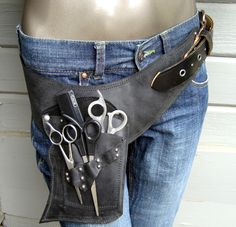 Hair Stylist shear/scissor holster/pouch. Could use for makeup brushes too..even more colors to choose from!